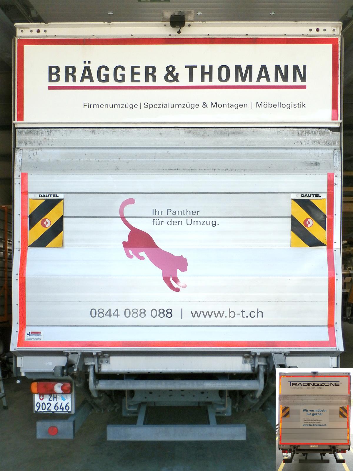 LKW_Umbeschriftung Brägger & Thomann Beifahrerseite