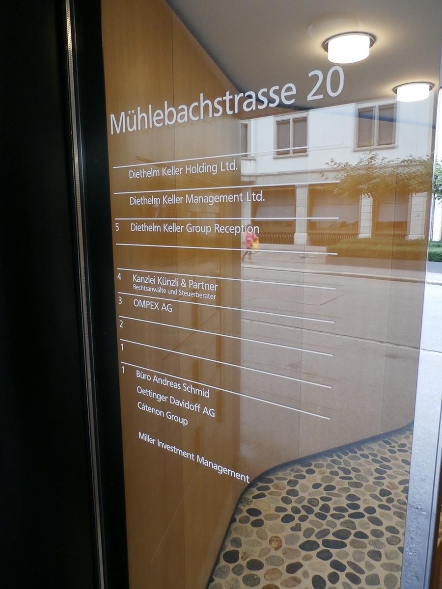 Stockwerkbeschriftung Eingangstüre