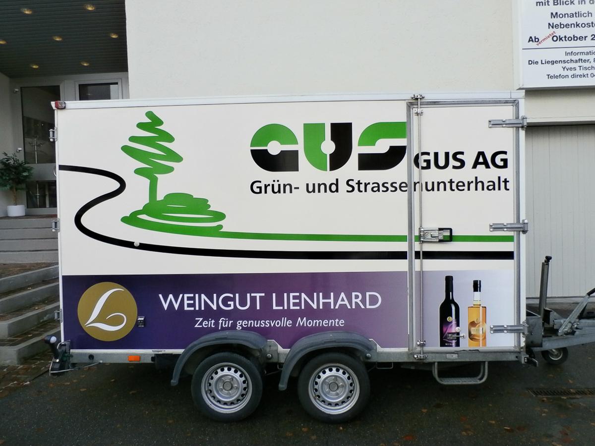 Anhänger-Beschriftung Seite  GUS AG Weingut Lienhard
