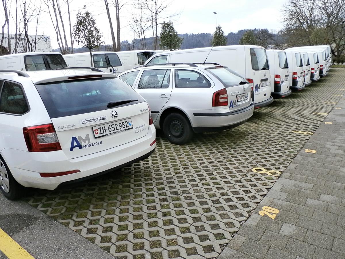 Lieferwagen Flotten-Beschriftung