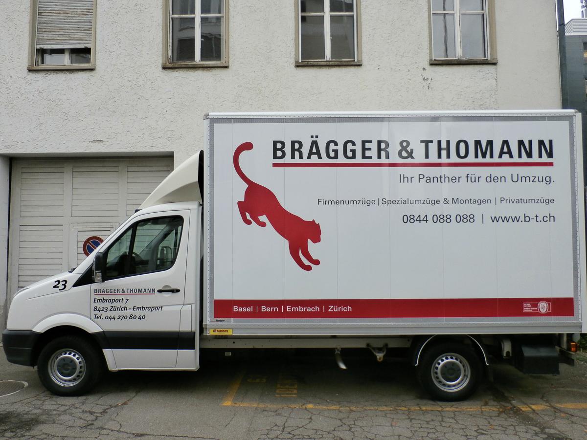 Lieferwagen-Beschriftung Brägger&Thomann