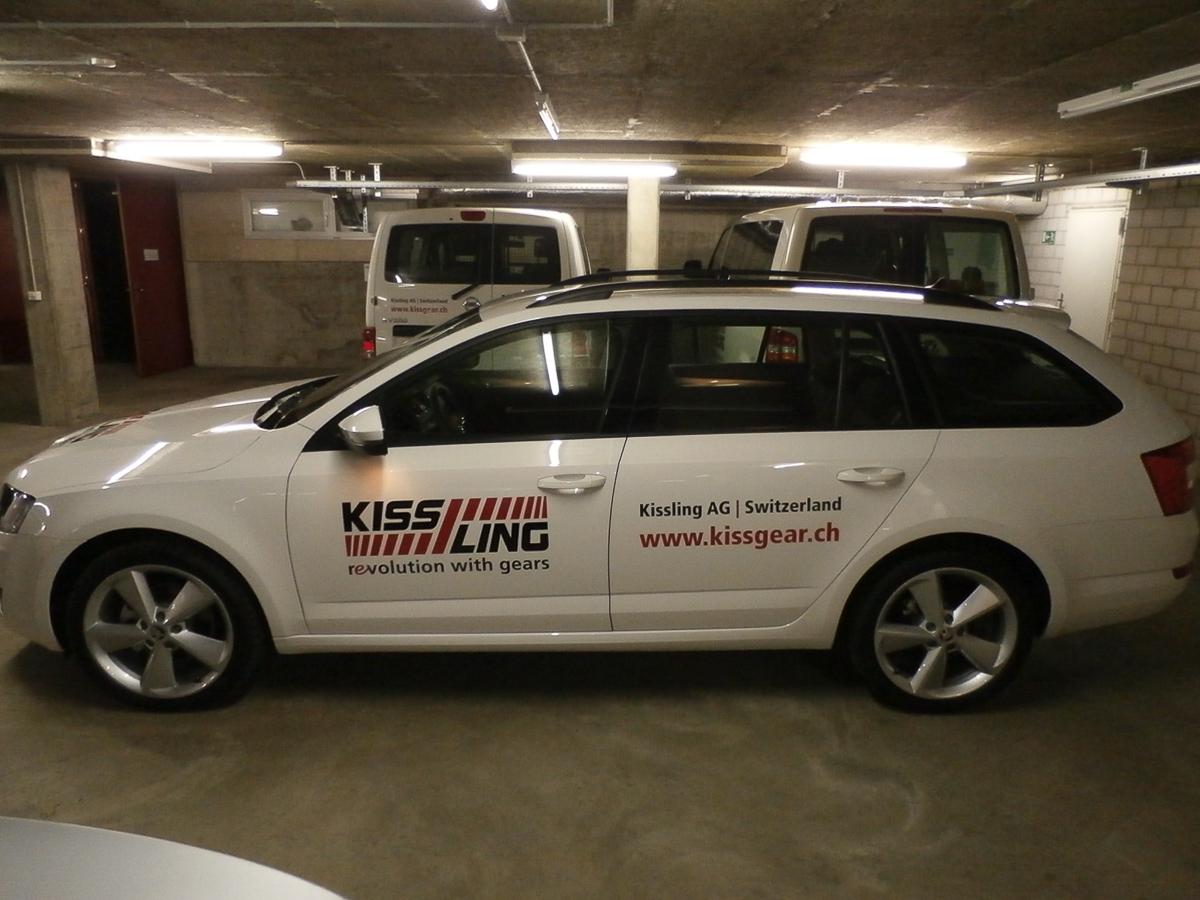 Fahrzeug-Beschriftung Kissgear.ch