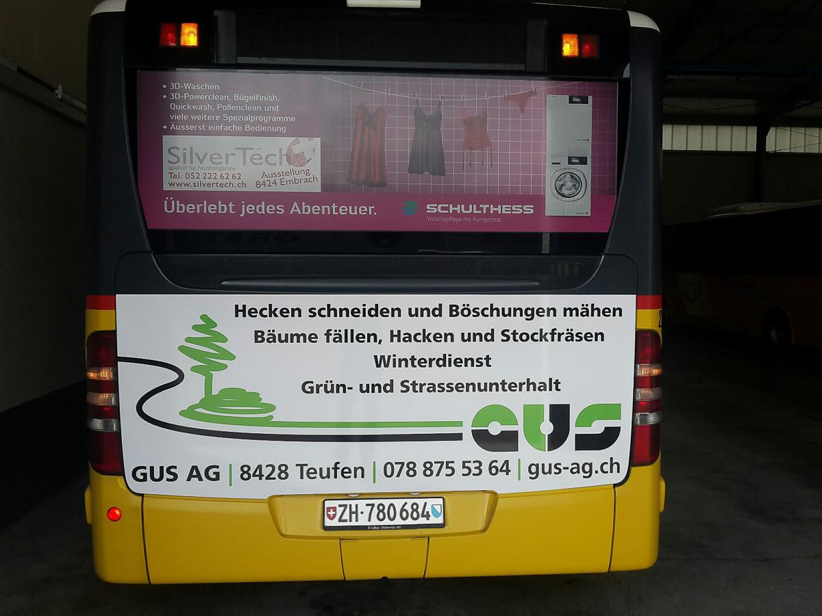 Postauto Heck-Beschriftung GUS AG