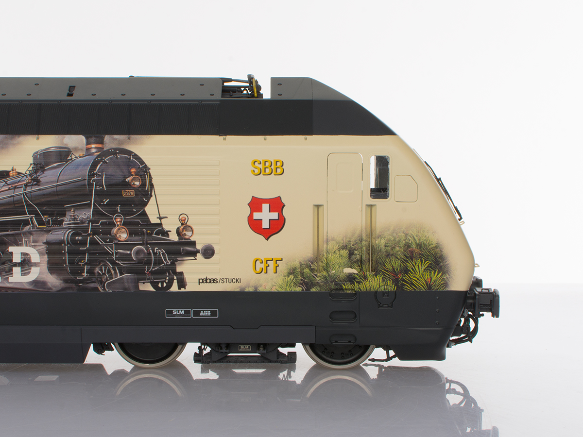 Pabas / Stucki – Spur 1 Re460 Gottardo II Detail Seite