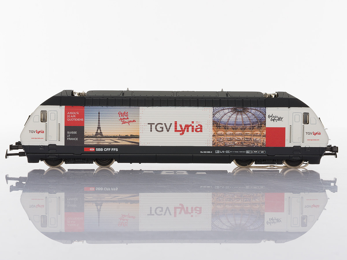 Pabas Stucki TGV Lyria Seitenansicht Spur H0