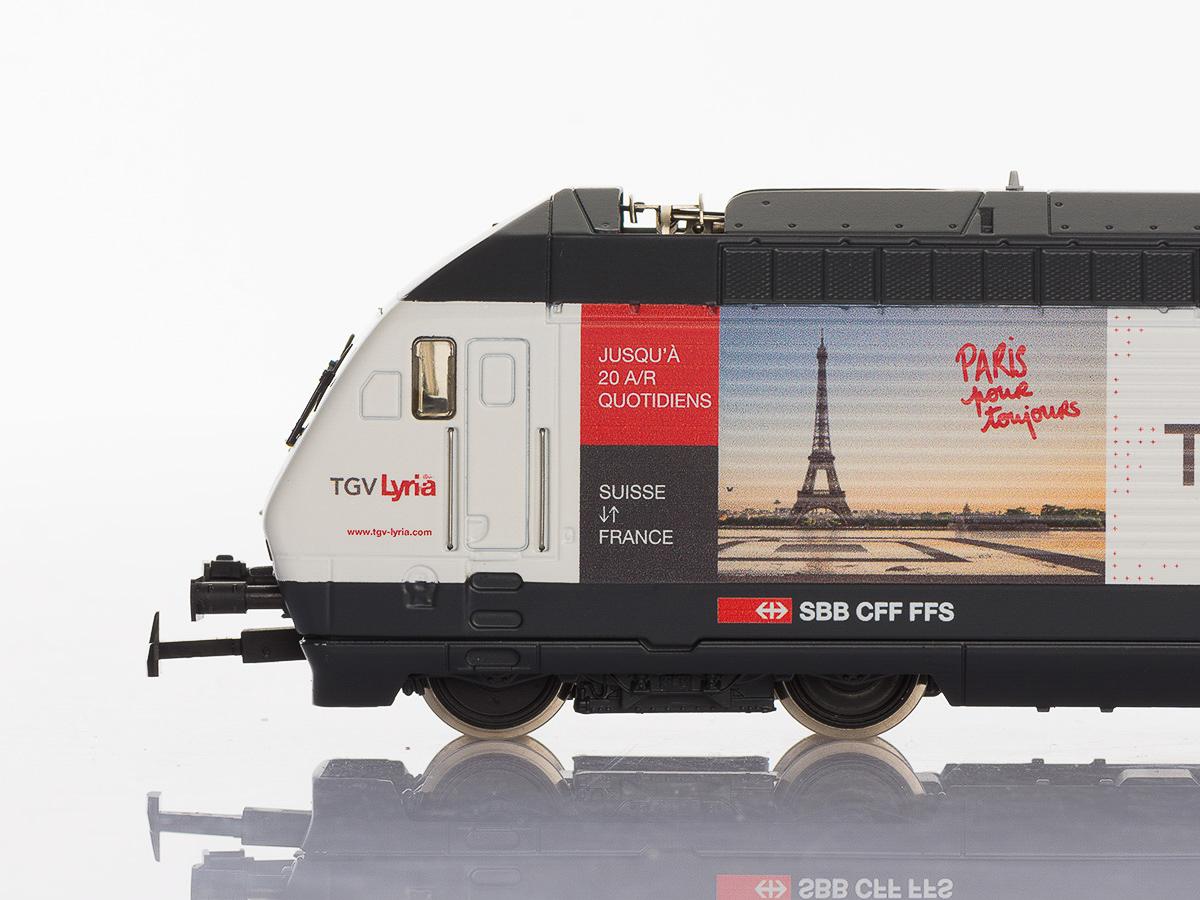 Pabas Stucki TGV Lyria Seitenansicht Detail Spur H0